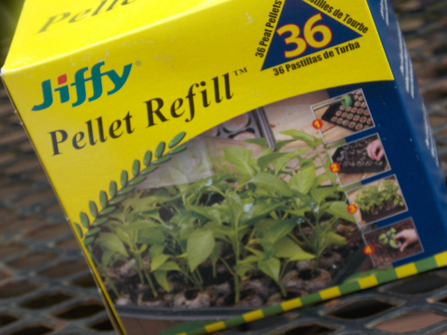 I start with Jiffy soil pelletts
